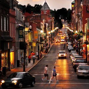 America's Greatest Main Streets - Galena, IL is listed on the second slide.: