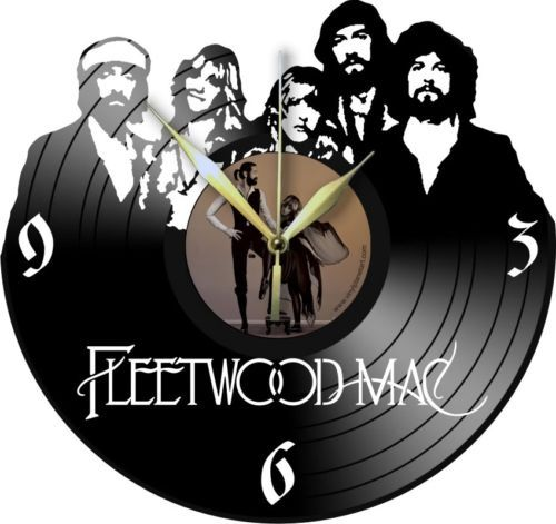 VINYL-PLANET-Wall-Clock-FLEETWOOD-MAC-Home-Record-Unique-Decor-upcycled-12-039-039