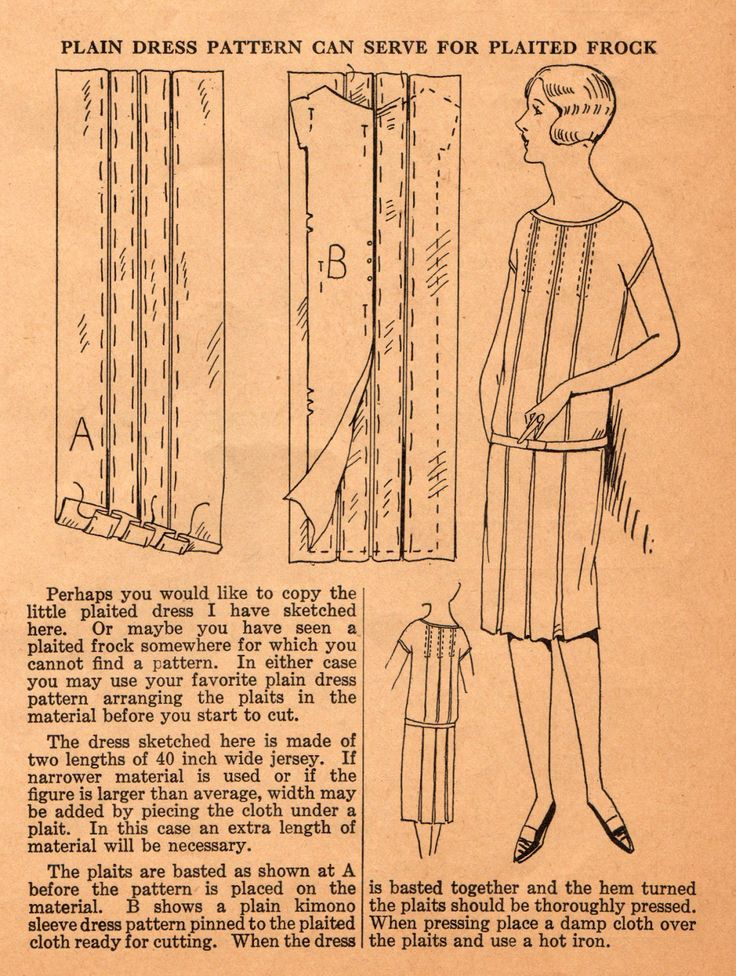 Home Sewing Tips from the 1920s: Upgrade a Plain Dress to a Plaited Frock