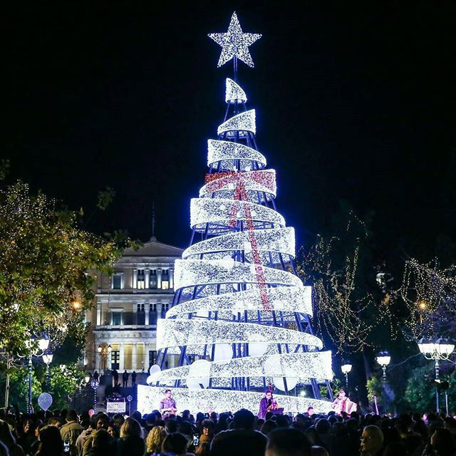 Greece Christmas In Athens Is Celebrated In A Wonderful Way Most Squares Of The City Including The Central Travel Visiting Greece Greece Athens