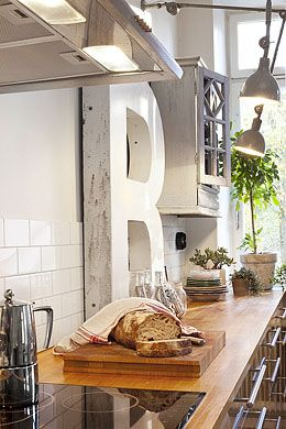 Industrial light kitchen space - I'd feel like a REAL cook in here