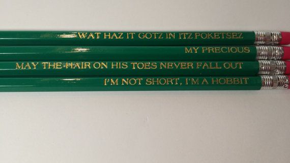 The Hobbit My Precious Gollum Engraved Pencils by AdoptAPencil