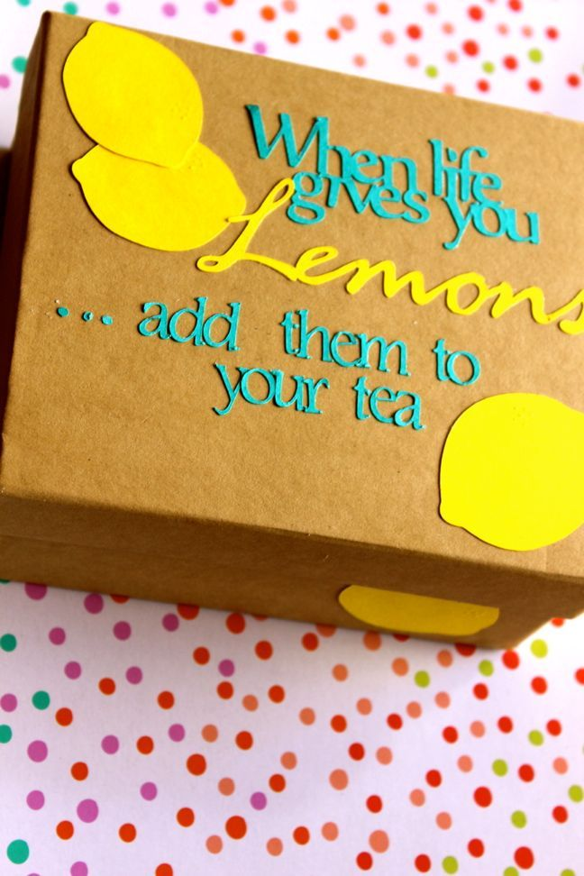 feel better in a box | gift idea for a sick friend (using the Silhouette to help decorate and create the box)