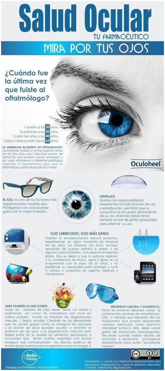 Tus ojos son súper importantes, así que asegúrate de mantenerlos sanos con los tips de esta infografía.
