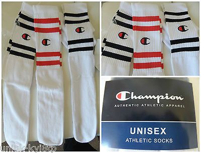 3 x vtg champion athletic tube socks #basketball #skate #sport 80's crew usa tenn,  View more on the LINK: 	http://www.zeppy.io/product/gb/2/282155806074/