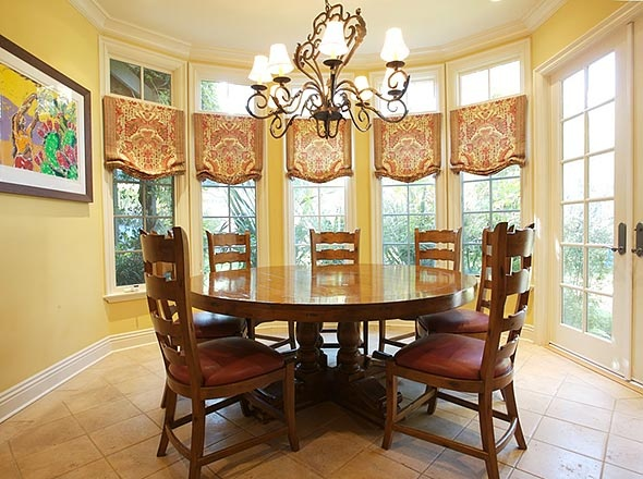 48 best images about bay windows on pinterest for Window treatments for bay windows in dining room