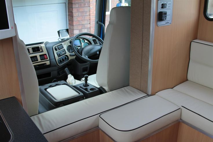 Compact 7.5 tonne Helios #horseboxes in white leather upholstery. #horseboxesforsale #horsehour