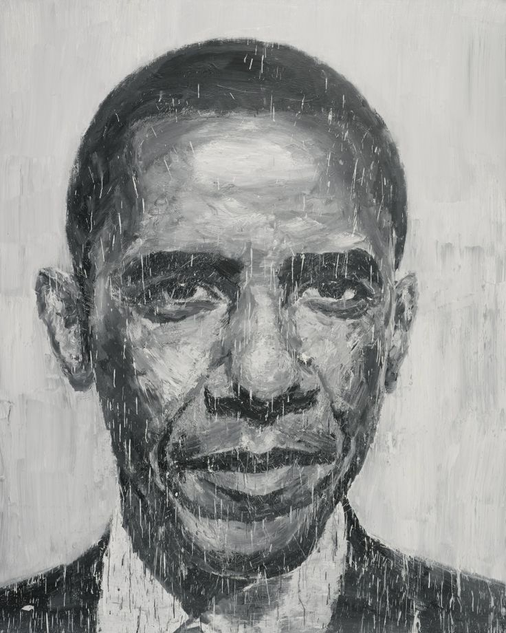 YAN PEI-MING B.1960 BARACK OBAMA signed, titled and dated Septembre 2008 on the reverse oil on canvas 250 x 200.6 cm.