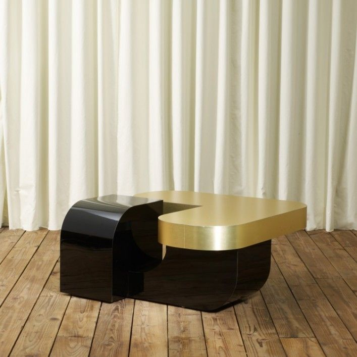 Most Elegant Gold Coffee Table : Black Gold Coffee Table.