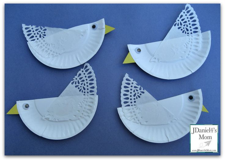 Four Calling Birds Coloring Page-use as Peace doves