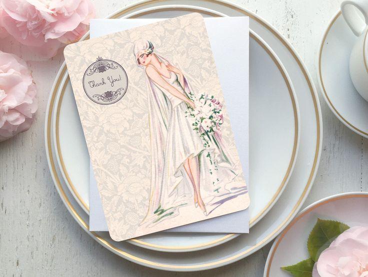 Bridal Shower Gift, Bridal Thank You Cards, Bridal Shower