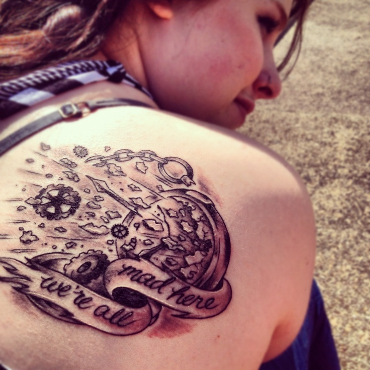 Alice In Wonderland Quote Tattoos: Tattoo Alice In Wonderland We're All Mad Here