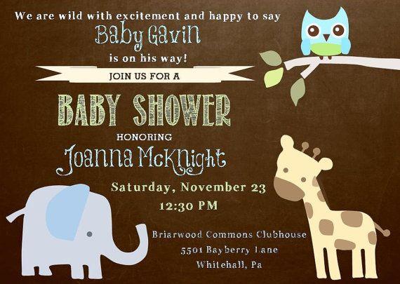 animal baby shower invitation animal baby showers animal themes animal