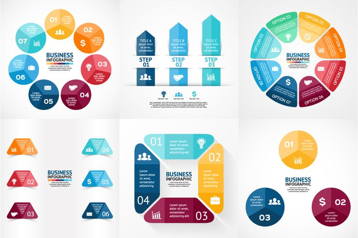 Big Infographic Bundle. EPS, AI, PSD by theseamuss on @creativemarket