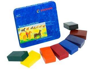 Stockmar Wachsmalblöcke Blechdose, 8er - Mit lichtechten Pigmenten voller Reinheit und Farbkraft.