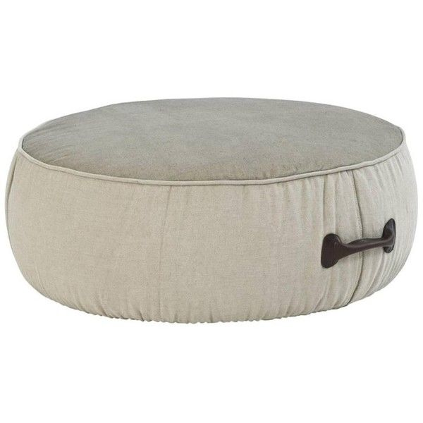 """""""chubby Chic"""" Fiber Pouf With Handle In Dark Brown Leather By Moroso... ($1,630) ❤ liked on Polyvore featuring home, furniture, ottomans, brown, stools, brown leather furniture, brown ottoman, dark brown furniture, leather ottomans and brown's furniture"""