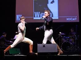 """Aaron Tveit and Norbert Leo Butz singing """"What is this feeling"""" for Wicked! :D Two Fiyeros :D muahahahhahahaha those pants XD oh my word this is beautiful"""