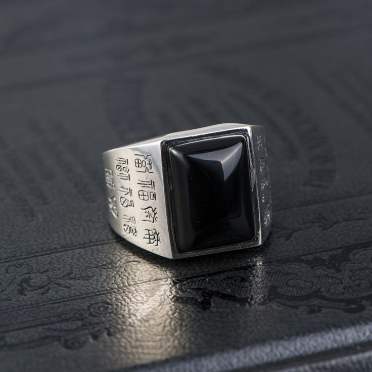 Black Onyx stone.. ring for male\ Мужские кольца