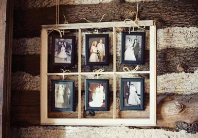 I think this is a great idea, showing off past family wedding day photos.  Could be great for a memorial table or something fun for the guests to compare old wedding photos through the years.