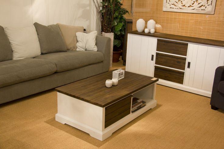 Blanche meubelen met keerbare laden - Idee deco woonkamer ...