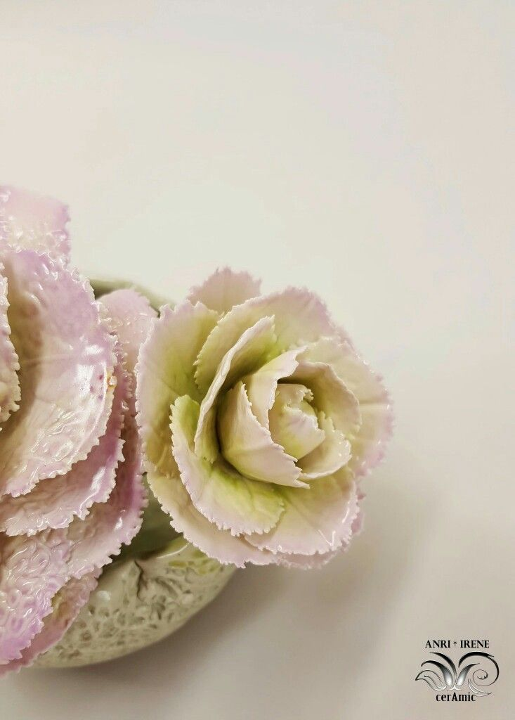 Ceramic lettuce, ceramic vegetables, ceramic cabbage, ceramic floral