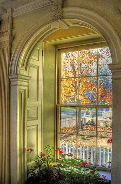 Autumn through the window...I saw under an Autumn pin, but I decided to put it in Photography and Art because of the great way they showed the architectural beauty with natures beauty...great pic.
