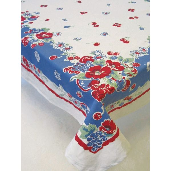 Very Berry Fruit Cotton Kitchen Tablecloth