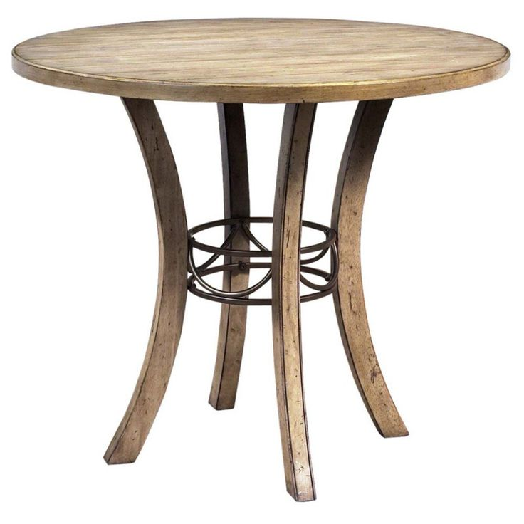 hillsdale charleston round wood counter height table