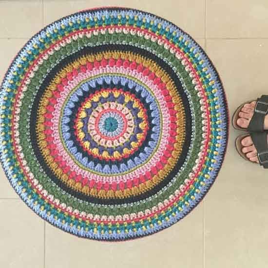 170 besten Crochet mandalas Bilder auf Pinterest | Häkeln, Stricken ...
