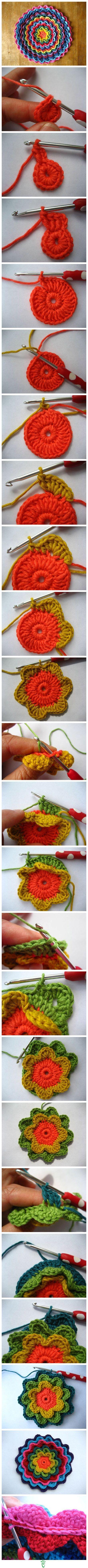 flower crochet ganchillo