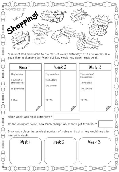 Australian money worksheets suitable for years 2/3/4. Various levels to help you differentiate.