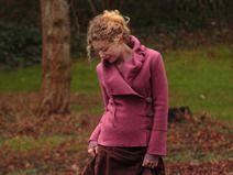 Jacke aus Wolle Walkjacke altrosa