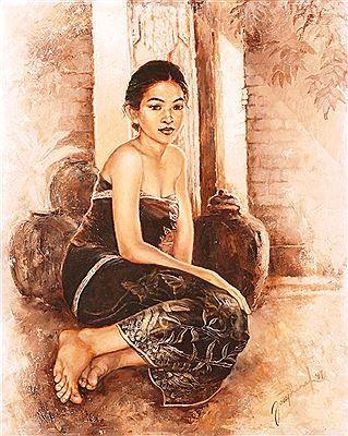 Josephine Linggar - Gadis duduk