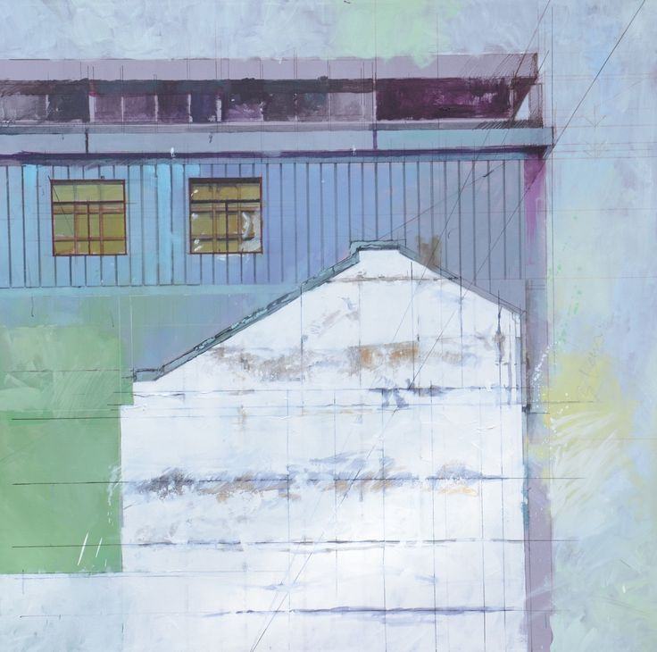 april 2015 oil on canvass 1250x1250 memory of building and boarded windows