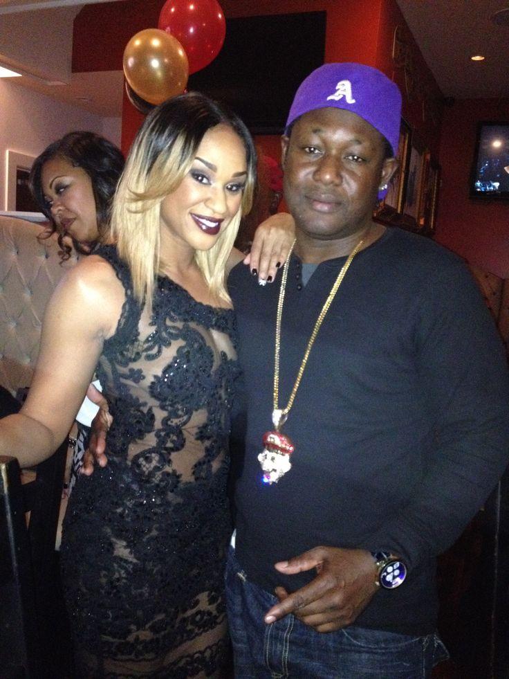 LOVE AND HIP-HOP ATLANTA STAR DJ TRACI STEEL AND HIP-HOP RECORDING ARTIST FRANKY MAFIA AT DJ TRACI STEELE BIRTHDAY PARTY WEDNESDAY NOV 6th ATLANTA GEORGIA
