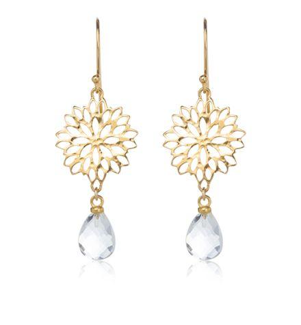 Anthia Earring gold plated https://kerryrocks.com.au/product/anthia-earring-crystal-quartz-gold