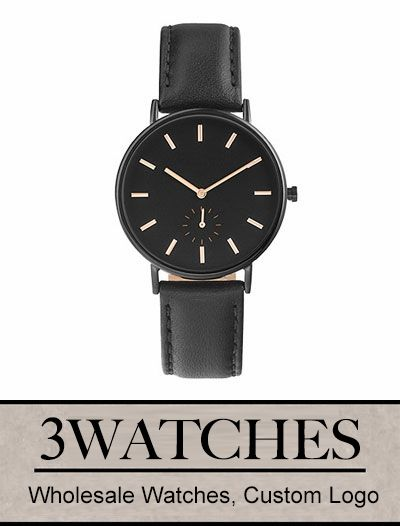 Thehorse Wholesale Watches. Custom Logo. Black / Black Leather. Visiting: http://www.3watches.com/horse-watch/