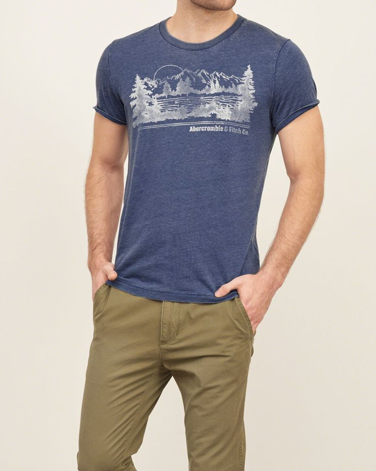 Mens Vintage Logo Graphic Tee | Mens Graphic Tees | Abercrombie.com
