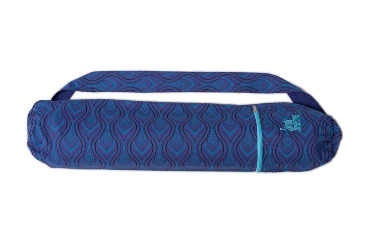 Purple Flame Yoga Mat Bag, Handcrafted Yoga bag, Yoga Mat Bag, 100% Cotton, Yog…