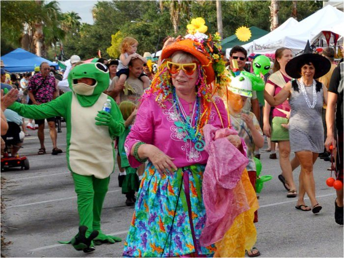 "The annual GeckoFest is the city's largest festival that celebrates the end of summer. This year's event (which took place in September) was a celebration of hippie culture that encouraged visitors to break out their bell-bottoms and ""get groovy."""