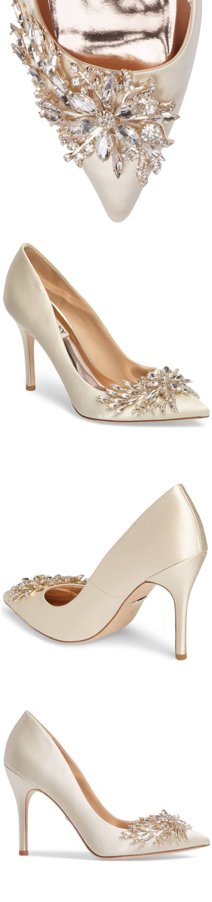 Winter Wedding Shoes || Embellished Bridal Shoes | Pointed Toe Bridal Shoes