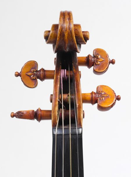 Detail, Violin, Andrea Amati, c. 1560. These violins are actually worth much more than a stradivarious! Stradivariouses were made from the 1700-1800s
