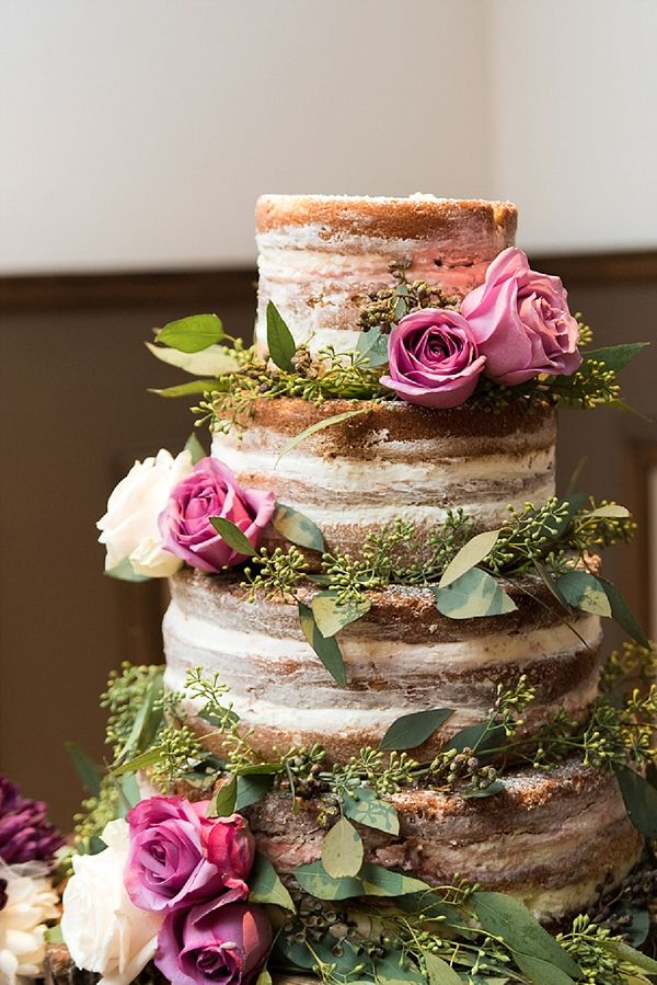 Naked cake for rustic wedding | Caitlin Gerres Photography on @tidewatertulle via @aislesociety