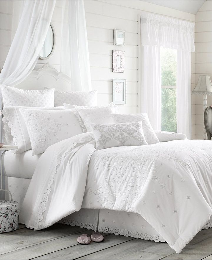 76e9fa96c6c6 Beautiful White Bedding Set | The Lucy comforter set from Piper & Wright  features stylish eyelet lace and the soft comfort of cotton, making it a  perfect ...