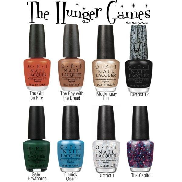 A fictional O.P.I nail polish line inspired by The Hunger Games films - Shopping info!