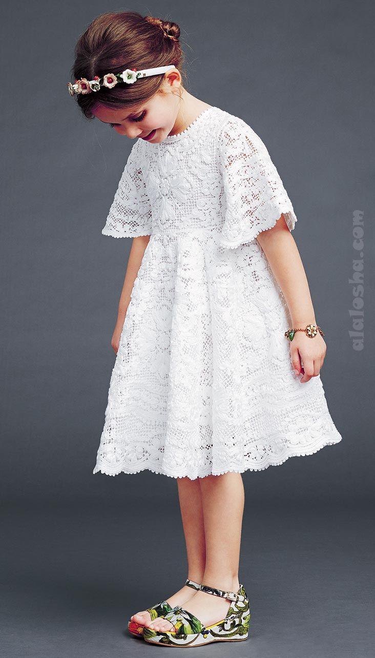 ALALOSHA: VOGUE ENFANTS: Dolce&Gabbana luxury girlswear FW'15