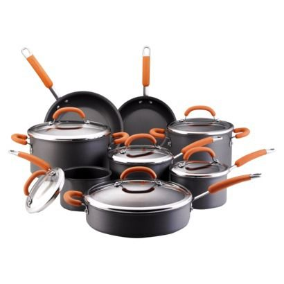I desire to have these in my kitchen Rachael Ray Hard Anodized Cookware Set - 14 piece