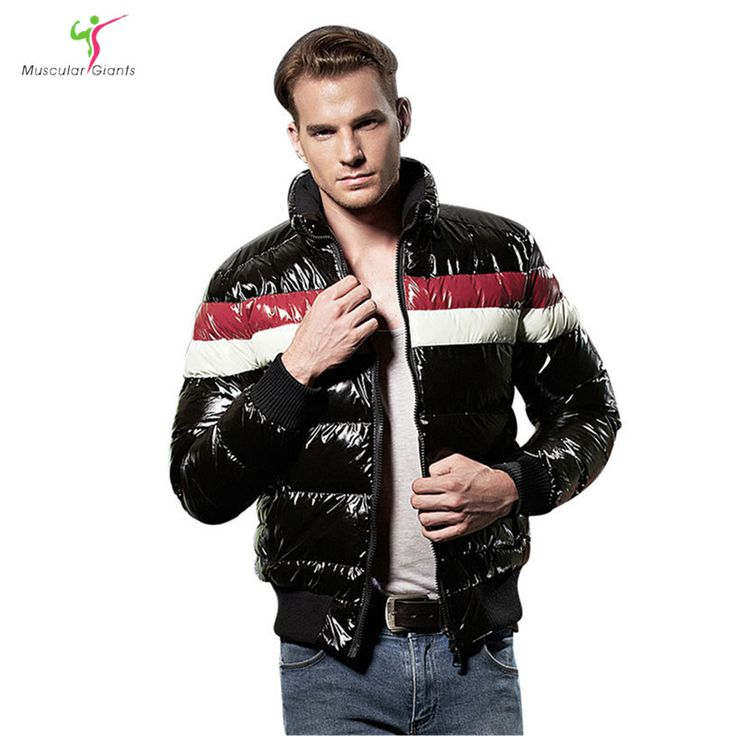 New Plus Size Winter Jacket 2017 Fashion Cotton Contrast Color Warm Brand Parkas Short Clothing Parka Shiny Mens Coats #Affiliate