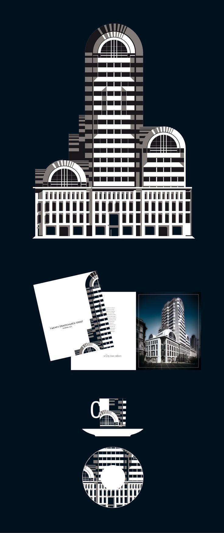 GRACE. SPACE. PLACE A City icon – formally 54 Lombard Street, the home of Barclays Bank – re-modelled, refurbished and re-addressed as Twenty Gracechurch Street. A Fornasetti homage echoed perfectly its quirky classicism.