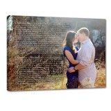 wedding vows with photo on canvas 4